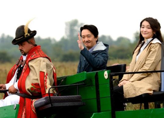 Японские принц и принцесса в Венгрии